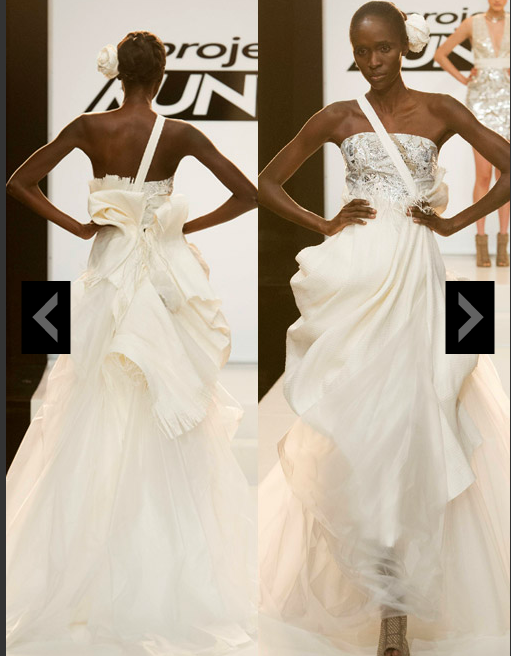 Project Runways Unconventional Wedding Dress